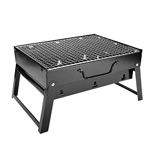 WXJHA Tragbarer Grill-Holzkohle-Grill Qualität Folding BBQ Grill Drahtgeflechte Werkzeuge für Outdoor-Camping-Kochen Picknick Wandern Nutzung