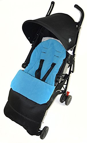 Fußsack/COSY TOES kompatibel mit Kiddy City N Move Kinderwagen Ocean Blau