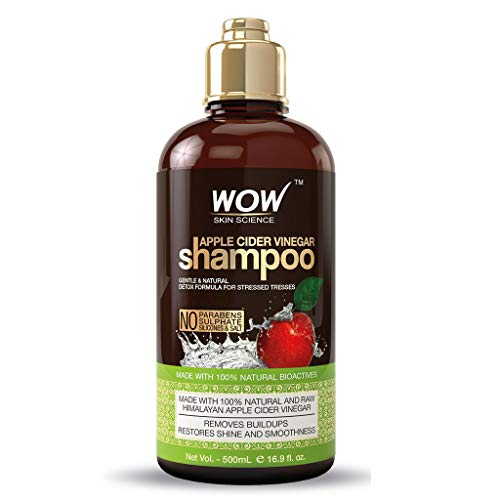 WOW Apple Cider Vinegar Shampoo - Reduce Dandruff, Frizz, Split Ends, For Hair Loss - Clean Scalp & Boost Gloss, Shine - Paraben, Sulfate Free - All Hair Types, Adults & Children - 500 mL
