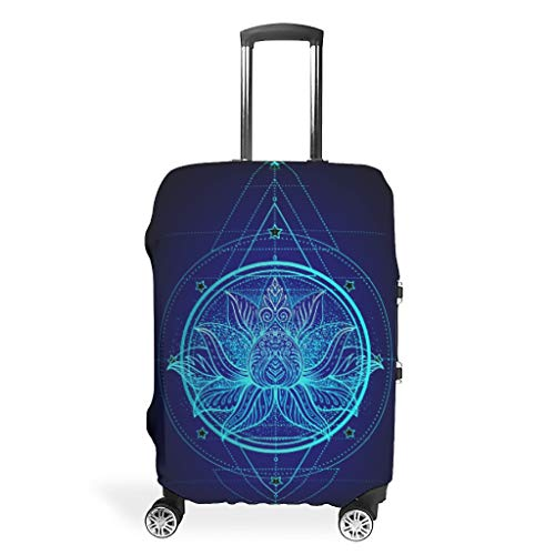 Luggage Cover Blue Yoga Washable Suitcase Protector No Dirty Fit Easily Four Sizes to Choose Anti-Scratch Suitcase Cover Fits 18-32inch Perfect Gift for Christmas White l(26-28 inch)