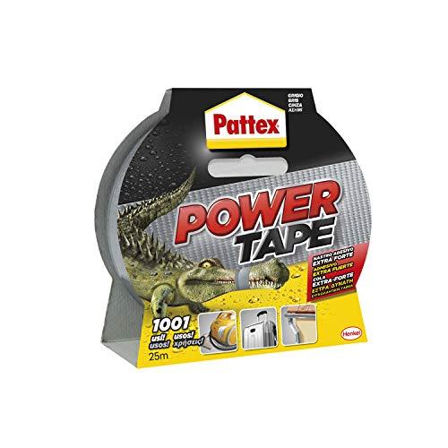 Pattex Power Tape, cinta americana extrafuerte para cargas pesadas, cinta negra para casi todas las superficies, cinta adhesiva e impermeable, 48 mm x 25 m
