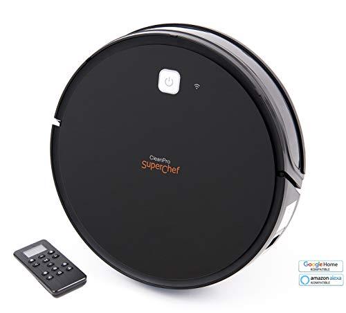 SuperChef Robot Aspirador y Fregasuelos SF425 CleanPro WiFi,