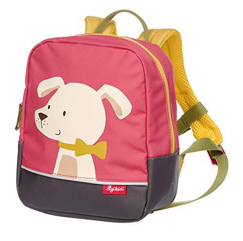 SIGIKID Mädchen, Kinder-Rucksack mit Tiermotiv Hund Forest, empfohlen für 2-5 Jährige, rosa, 25054