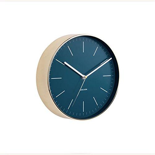 Karlsson Minimal Uhr, Wanduhr, Stahl, Blau, One Size