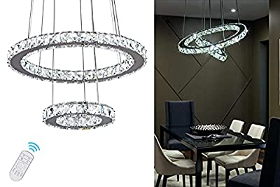 Crystal Chandelier Island Pendant Light Contemporary Dimmable Lamp