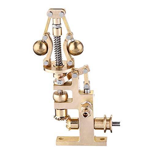 Mini Brass Steam Engine Flyball Governor with 3mm Steam Tube Port, 58 x 36 x 90mm