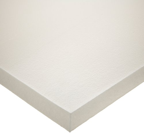 Silicone Rubber Sheet, Adhesive-Backed, White, 3/16