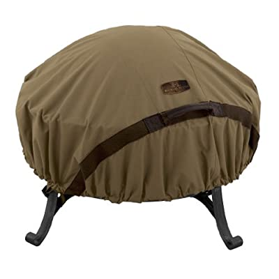 Classic Accessories Hickory Water-Resistant 60 Inch Round Fire Pit Cover
