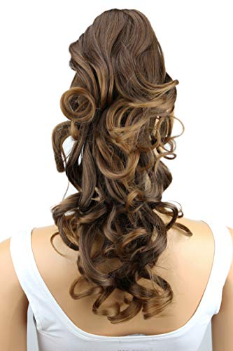 PRETTYSHOP 40cm Haarteil Zopf Pferdeschwanz Haarverlängerung Voluminös Gewellt Braun H216