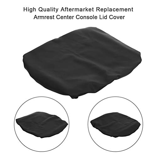 OCPTY Auto Armrest Center Console Lid Skin Cover + Base for 1993-2016 for Dodge Ram Pickup Trucks(Black)