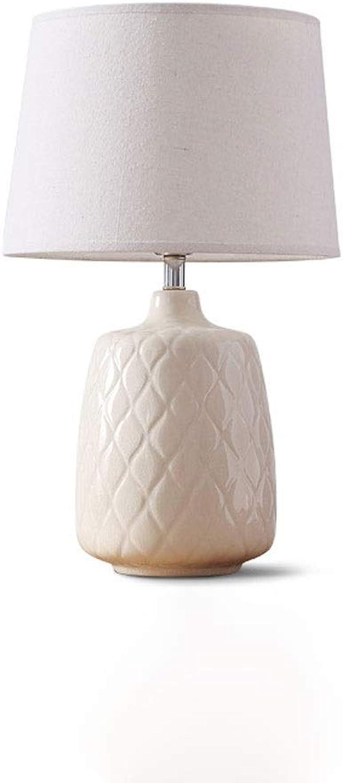 Moderne minimalistische eisriss keramik tischlampe wohnzimmer schlafzimmer nachttischlampe moderne mode helle keramik tischlampe (Farbe   Wei)