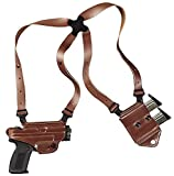 Galco Gunleather Miami Classic II Shoulder System for 1911 5-Inch Colt, Kimber, para, Springfield (Tan, Right-Hand)