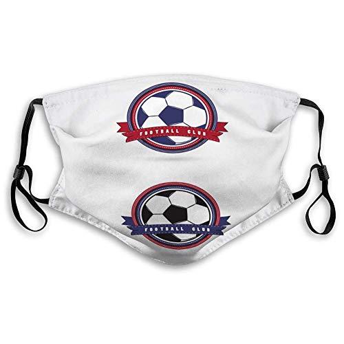 Dames mannen ademend half gezicht mond masker voetbal badge logo sjablonen sport team identificatie collectie thema's