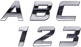 Personalized Set of Chrome Auto Letters and Numbers - Sport Mini Style
