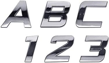 chrome emblem letters