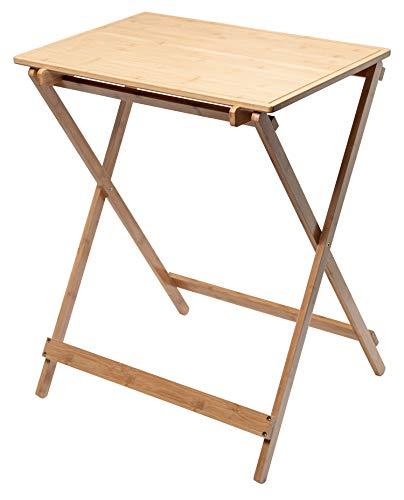 ACTIVA Grilltisch Outdoor Bambus Holz Serviertisch Grillwagen Beistelltisch Gartentisch Küchentisch Arbeitstisch Küchenwagen Rollwagen Pflanztisch Gartenmöbel Zubereitungstisch 66 x 43 x 84 cm
