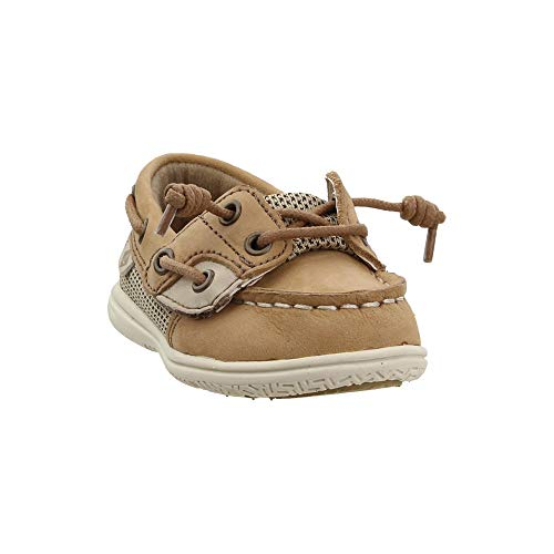 Sperry baby girls Shoresider Jr Crib Shoe, Linen/Oat, 11 Little Kid US