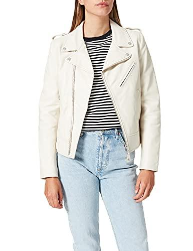Schott NYC Perfecto Biker Jacket without belt - Blouson - Femme, Ecru - Ecru, Large