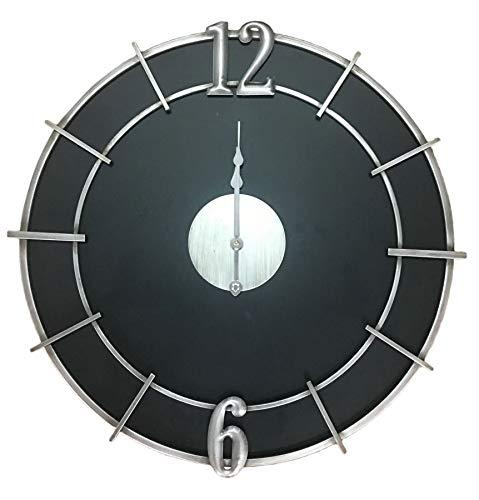 BeKreative Reloj Silver Glam cm diám. 60 x 4,5 cm.