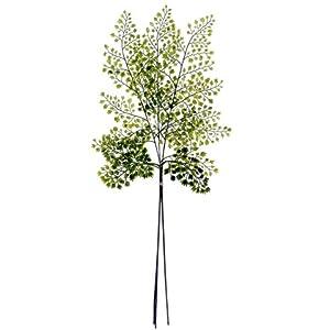 "Silk Flower Arrangements 22"" Forest Maidenhair Fern Bundle x3 Green (pack of 24)"