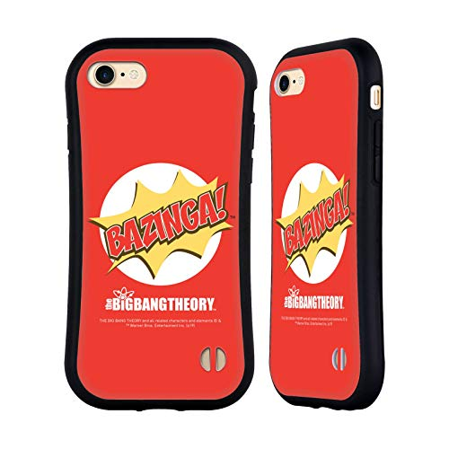 Head Case Designs Oficial The Big Bang Theory Pop Art Bazinga Carcasa híbrida Compatible con Apple iPhone 7 / iPhone 8 / iPhone SE 2020