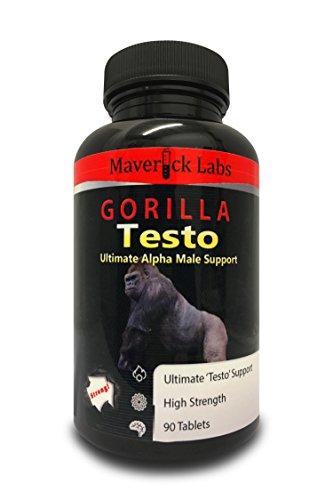 Gorilla-Testosteron – Die Testosteron (Booster) Turbo-Pille für den Mann – Werden Sie zum Alpha-Tier – Für anabolisches Muskelwachstum und mehr (völlig legal) – 90 Kapseln