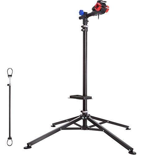 TecTake 402899 Support de Montage Vélo, Pied d'Atelier d'entretien de Réparation Charge 25 kg Réglable Pliable 85cmx85cmx200 cm Nuovo