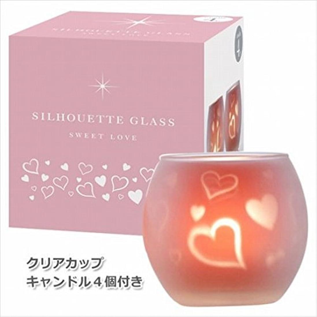 キリスト教急いでモニターカメヤマキャンドル(kameyama candle) スウィートラブ2【キャンドル4個付き】 シルエットグラス