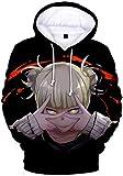 PANOZON Sudadera Hombre Impresión 3D de Anime Japonés Uniforme con Capucha Manga Ninja (M, Himiko...