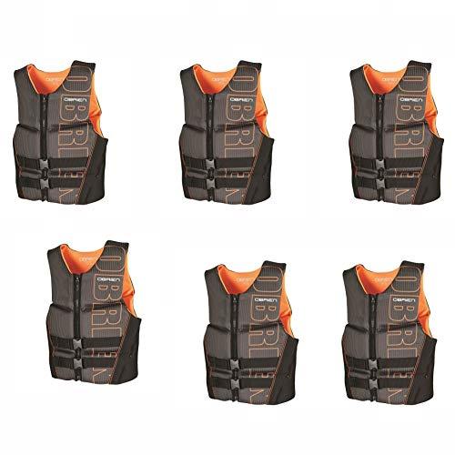 Why Should You Buy Obrien BioLite Series Men's Flex V Back Life Vest Size XS, Black/Orange (6 Pack)
