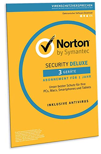 Norton Security Deluxe 2019 | 3 Geräte | 1 Jahr | PC/Mac/iOS/Android | Download, Aktivierungscode in Frustfreier Verpackung