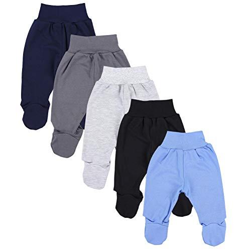 TupTam Baby Unisex Hose mit Fuß Bunte 5er Pack, Farbe: Junge 5, Größe: 62