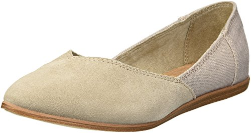 Toms Mujeres Zapato de Piso, Desert Taupe Suede/Heritage