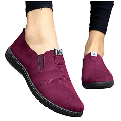 Berimaterry Zapatillas de Deporte de Las señoras de Las Mujeres Ocasionales Holgazanes Ligeros Transpirables Zapatos Zapatillas Zapatos Perezosos, Zapatos de Madre
