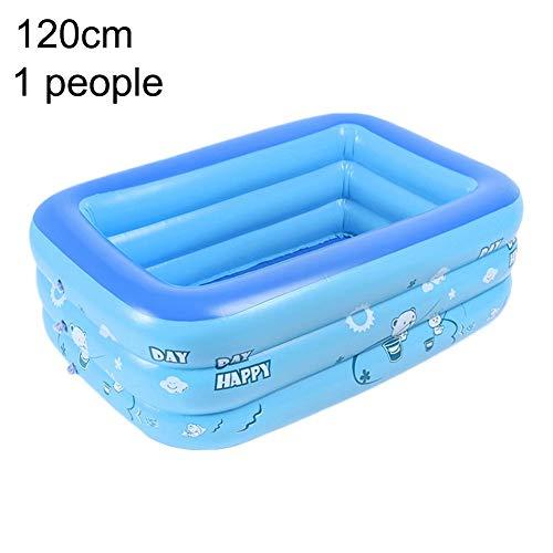 lembrd Family Pool Aufblasbares Kinder-Planschbecken, PVC Schwimmbad Aufblasbares Werkzeug 3 In 1 Verschleißfeste Kinder Baby Schwimmbadzubehör