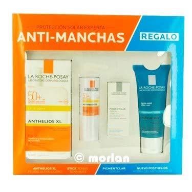 La Roche Posay Anthelios XL SPF50+ Fluido, 50ml+Stick Zonas Sensibles, 9g+REGALO Pigmentclar Serum, 3ml+Posthelios Aftersun Hydra Gel Antioxidante, 40ml