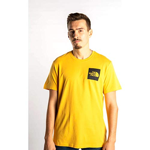 North Face M S/S Fine Tee T-Shirt pour Homme Jaune (TNF Yellow)