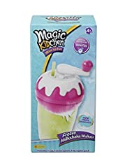 Magic Kidchen Frozen Milkshake Maker makes delicious, frozen, foamy milk shakes in minutes Just freeze the special milkshake maker, then pour in your flavoured milk and watch the magic begin! So easy to do and in minutes you'll have thick, foamy, fro...