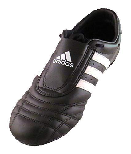 Taekwondo Schuhe Adidas Leder SM2schwarzen Streifen, - weiß / schwarz - Größe: 42
