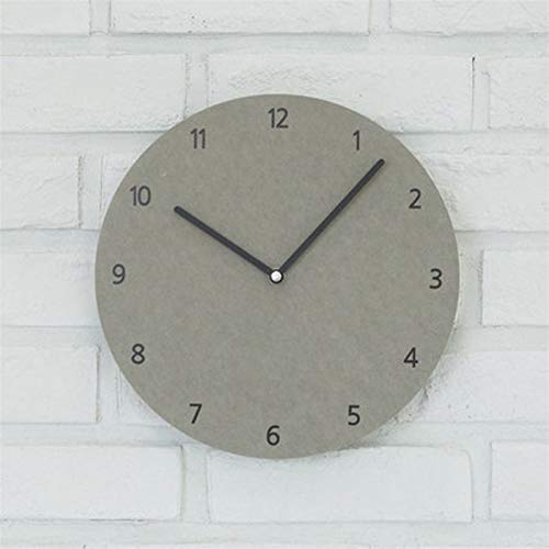 SHOP YJX Reloj de Pared Creativo Moderno, Sala de Estar, diagramas de Pared de Dormitorio Mute Bell (Color : Gray, Size : 14 Inches)
