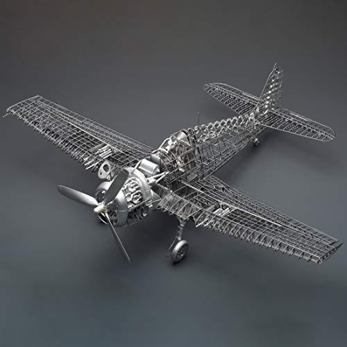Bataop 1/48 Flugzeuge Modellbausatz, F6F-5 Flugzeugmodell DIY Metal Puzzle Bausatz Spielzeug Kreatives Geschenk für Erwachsene und Kinder