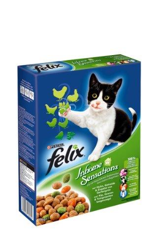 Felix Trocken Inhome Sensations mit Geflügel 1kg (2er Pack) Katzenfutter von Purina, 2er Pack (2 x 1 kg)