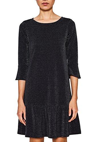 ESPRIT Damen 117EE1E028 Kleid, Schwarz (Black 001), Medium