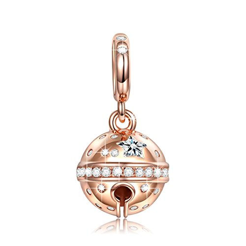 NINAQUEEN 925 Sterling Silver Charms for Pandöra Bracelets Rose Gold Dangle Charm Pendant Charm...