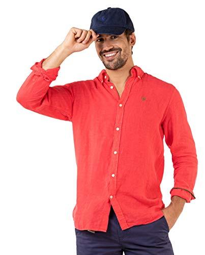 El Ganso Camisa Lino Rojo