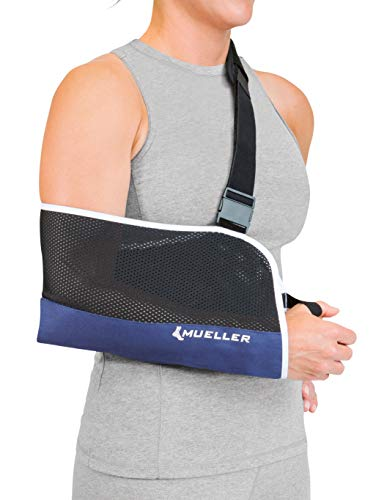 Mueller New & Improved Arm Sling, Blue, One Size Fits Most