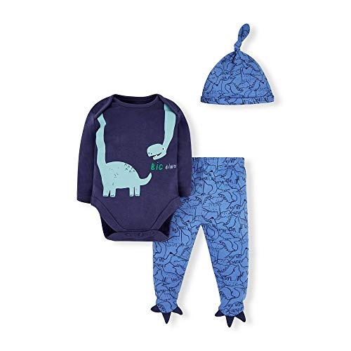 Mothercare Io B Dino Novelty 3pc Set Body, (Navy 21), 18-24 Months (Size:92) para Bebés