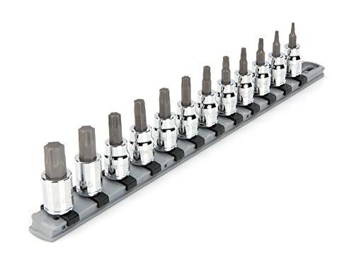 TEKTON 3/8 Inch Drive Torx Bit Socket Set, 12-Piece (T10-T60) | SHB91103