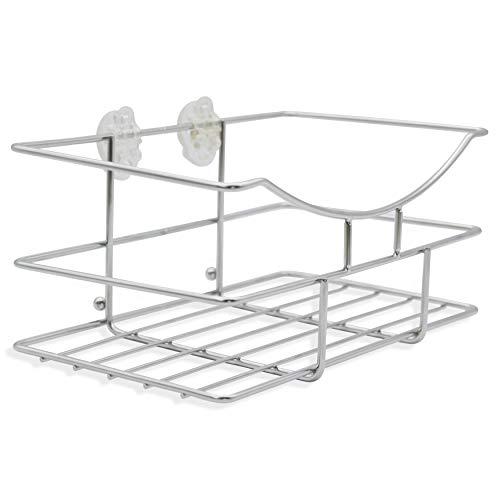TROP Universalkorb aus rostfreiem Edelstahl, Befestigung ohne Bohren - Duschablage/Duschkorb