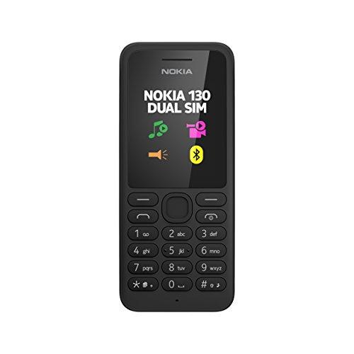 Nokia 130 Telefono Cellulare, Display da 1.8', Dual SIM, Radio FM, Nero [Italia]